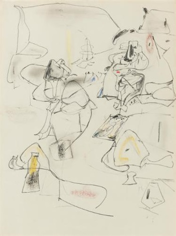 the unattainable study by arshile gorky