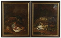 nature morte (pair) by george morland