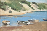 boats on the shore by amalie sarah colquhoun