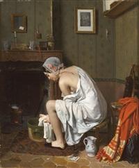 jeune femme à sa toilette by jean alphonse roehn