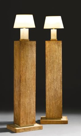 columns and table lamps pair by paul dupré lafon