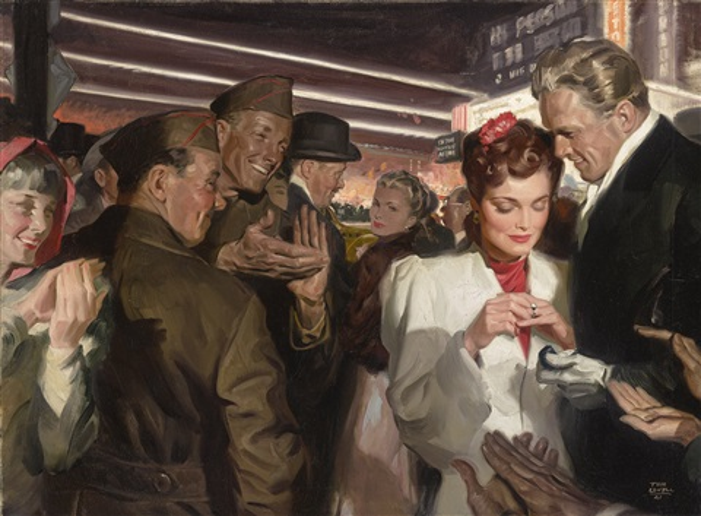 Engagement By Tom Lovell On Artnet