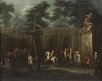 education equestre d'un jeune prince et initiation d'un jeune prince à la chasse à courre (pair) by french school (18)