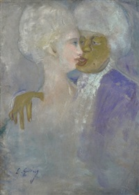 the mulatto and the lilly white woman by lajos gulácsy