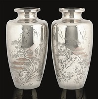 pair of vases by yoshihide