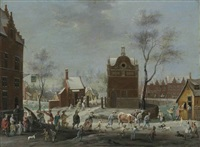 a winter carnival in a small flemish town by peter gysels