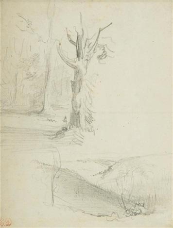 étude de paysages study by eugène delacroix
