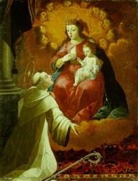 la lactation de saint bernard by josefa de (obidos) ayala