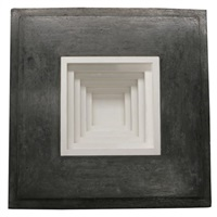 inset wall piece with stepped white interior by jackie winsor