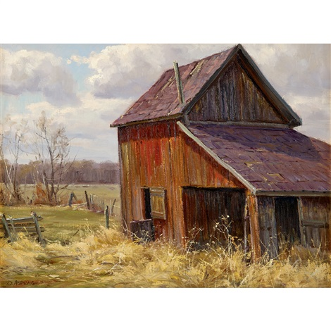 old barn by clyde aspevig on artnet