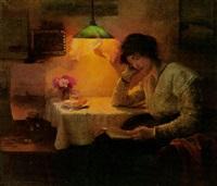reading by lamplight by carl fleischmann