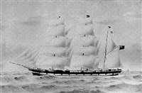 the three-masted barque rothesay bay by harold percival