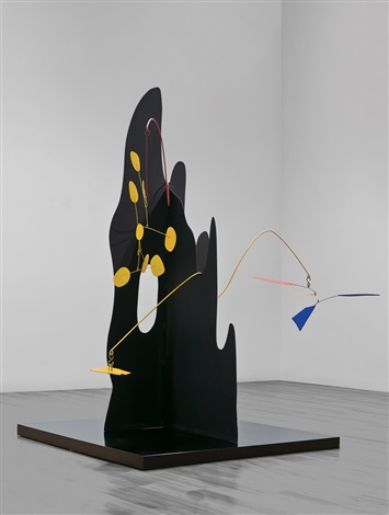 crag with petals and yellow cascade by alexander calder