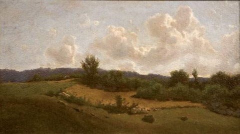 paysage by giuseppe abbati