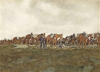 cavalerie op de heide: back from the manoeuvres by george hendrik breitner
