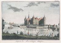 ansicht des moritzburger schlosses (after c. g. langwagen) by carl gottfried nestler
