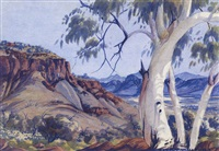 mt gillen, macdonell ranges (south side) by albert namatjira
