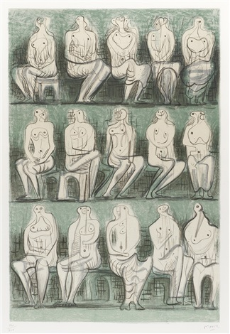 seated figures by henry moore