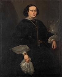 retrato de dama by jose maria rodriguez losada
