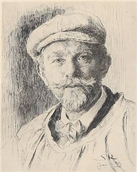 the artist's selfportrait (3 works) by peder severin krøyer