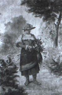 joven con flores by luis taberner y montalvo