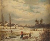 pejzaż zimowy by jozef guranowski