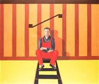 odpoczynek na schodach by jaroslaw modzelewski