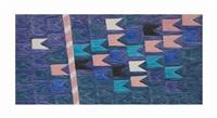 bandeirinhas horizontais com mastro (no. 1330) by alfredo volpi