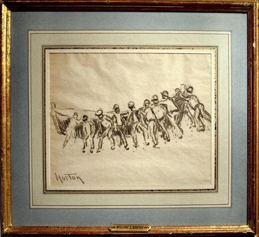 untitled (men pulling boat) by william samuel horton