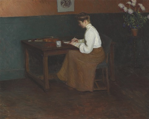 in the studio by lilla cabot perry