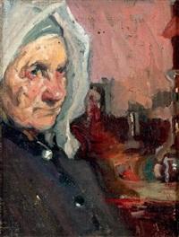 portrait de femme à la coiffe by bessie ellen davidson