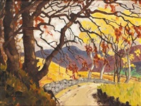 mountain road, autumn by mabel young