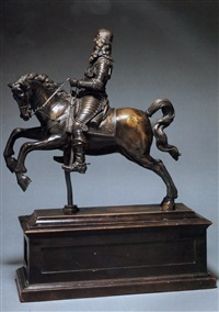 habsburg ruler on a rearing horse (archduke ferdinand?) by caspar gras