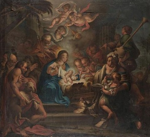 the adoration of the shepherds by martino altomonte