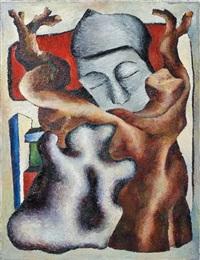 composition au visage de femme et au tronc d'arbre by georges bauquier