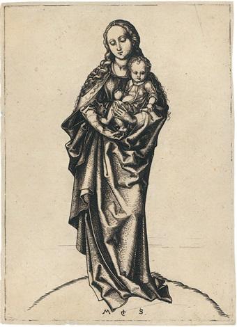 die madonna mit dem apfel by martin schongauer