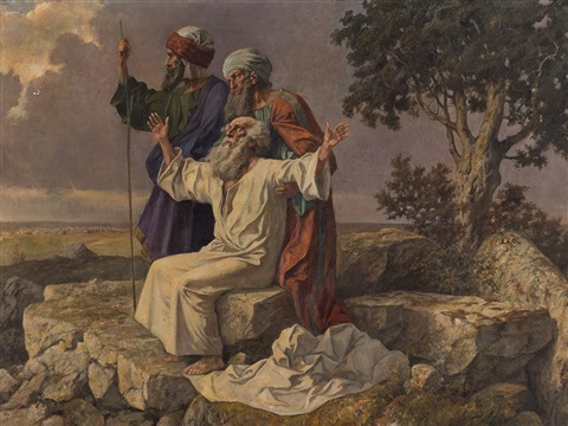 Moses, Joshua and Caleb by Rudolf Yelin on artnet