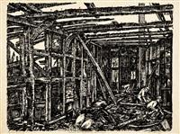 ausgebranntes westfälisches bauernhaus by peter august böckstiegel