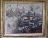 barques au bord de mer by alvar