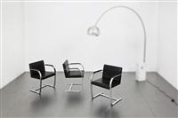 tre sedie mod. mr50 detto brno by ludwig mies van der rohe