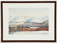 a view of cairngorms by william george gillies