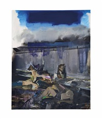 the blue rain by adrian ghenie