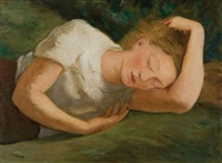 ragazza che dorme by emilio sobrero