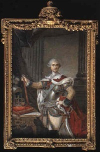 stanislas augustus poniatowski, king of poland (1732-1798), three-quarter length holding a baton... by josef kosinski