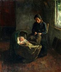 moeder en baby by jacob simon hendrik kever