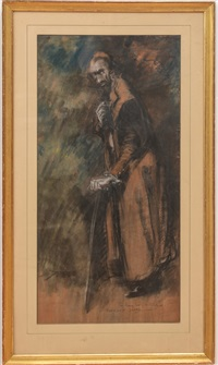 sir henry irving as shilock by everett shinn