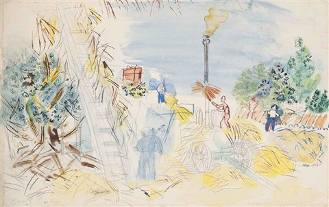la moisson by raoul dufy