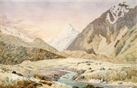 mt cook and the old hermitage by christopher aubrey
