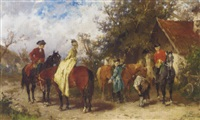preparing for the ride by georg heinrich büttner