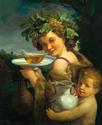 bacco con amorino (after guido reni) by peter maixner